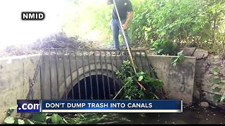 Don't dump trash into canals