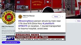 Person struck by train - Video