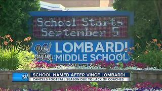 School named after Lombardi cancels football season - Video