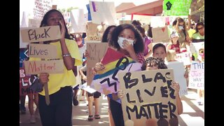 Kids against racism rally organized by 11-year-old