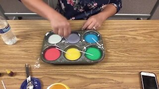 Science Sundays: Making Chalk Paint with Mom (Full Experiment)