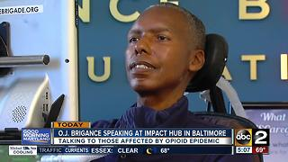 O.J. Brigance speaking on opioid epidemic