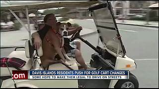 Residents petition to drive golf carts legally on Davis Islands streets - Video