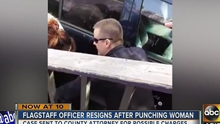 Flagstaff officer caught punching woman in face resigns before termination - Video