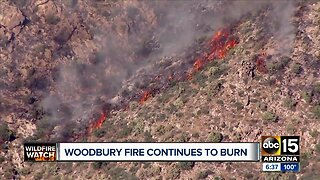 Woodbury fire continues to burn in Superstition Mountains