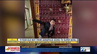 Make-A-Wish sends Annapolis 11-year-old to the Super Bowl