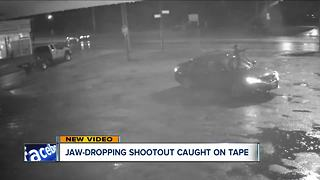 Video: Children nearly gunned down in chaotic parking lot firefight - Video
