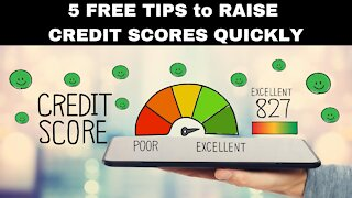 5 FREE Tips to Improve your Credit Score Quickly!