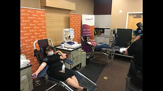 Las Vegas locals donate blood plasma