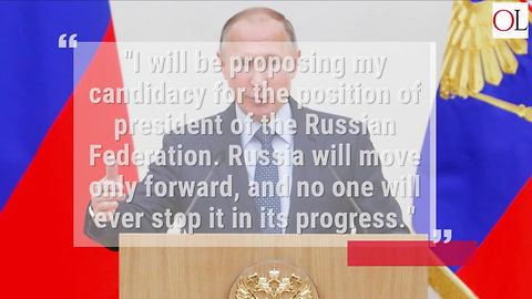 Putin Officially In One Man Race For Re-election