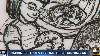 Valley mom's lunchbox sketches become life-changing art - Video