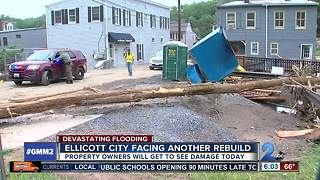 Ellicott City property owners to see flood damage for the first time - Video