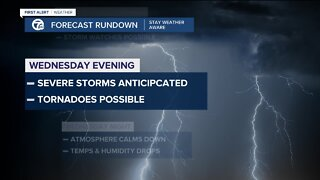 Severe storm possible tonight
