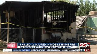 1 killed, 2 injured in mobile home fire in Lamont - Video