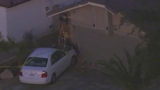 Woman drives into home near Windmill, Pollock - Video