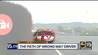 Wrong-way driver started at Sky Harbor before getting on I-10 - Video