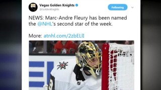Vegas Golden Knights player named NHL Star of the Week - Video