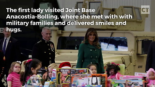 While Libs Celebrated Alabama, Melania Was Making Military Kids' Holidays - Video