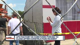 UFO Factory in Corktown forced to close after construction incident - Video