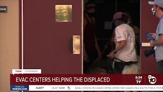 Evacuation centers helping displaced families