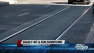 Police search for driver involved in deadly hit and run downtown