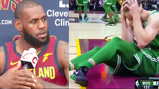 LeBron James & NBA Players React to Gordon Hayward's Gruesome Leg & Ankle Injury - Video