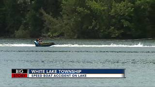 Water accidents can happen in a slit second on crowded lakes during holiday week
