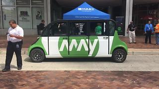 Autonomous vehicle on display Tuesday in downtown Tampa | Digital Short