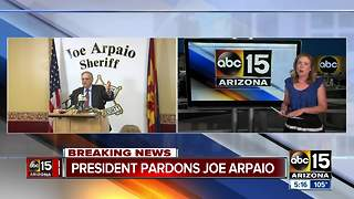 President Trump releases statement about Arpaio pardon - Video