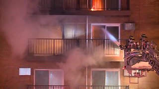 Firefighters battle apartment fire in the freezing cold in Woodmere