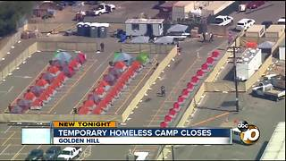 Temporary homeless camp closes - Video