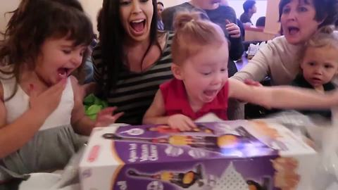Adorable Tot Gets A Vacuum Cleaner For Birthday