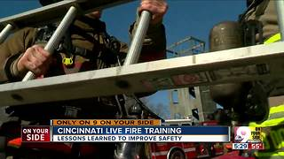 For Cincinnati firefighters, live fire training teaches lessons to improve safety - Video