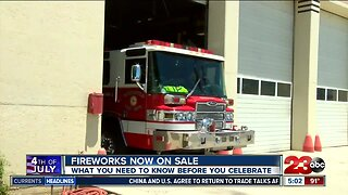 Fireworks sale starts today