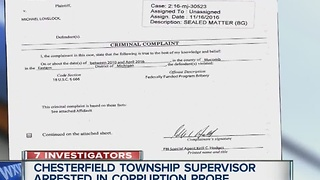 Chesterfield Township Supervisor arrested in corruption probe