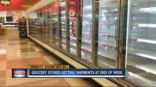 Grocery stores getting shipments at end of the week - Video
