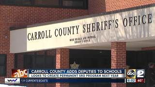 Carroll Co. schools staffed with deputies - Video