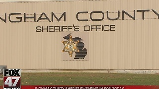 Ingham County Sheriff swearing in son - Video