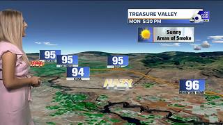 Temperatures are warming, but not triple digits this week!