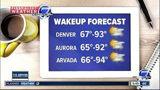 Scattered thunderstorms will bring relief from the heat - Video