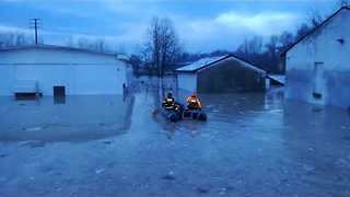Emergency Services Evacuate Italian Town Following Severe Flooding - Video