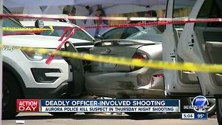 Man shot and killed by Aurora police after pursuit was suspect in Thursday shooting, police say - Video