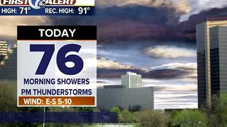 showers, PM storms - Video