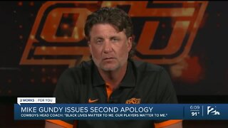 OSU Coach Mike Gundy apologizes in video for wearing controversial t-shirt