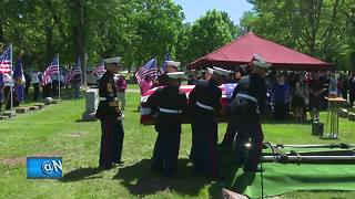 Funeral held for Menasha Marine killed in WWII - Video