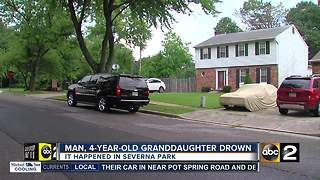 Child, grandfather drown in Severna Park Thursday - Video