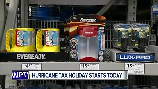 Hurricane tax holiday underway in Florida