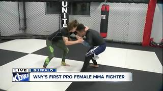 Training with WNY's first pro female MMA fighter