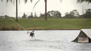Nine-Year-Old Wakeboarder Shows His Skill - Video