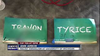 University of Michigan police investigate racist language on dorm name tags - Video